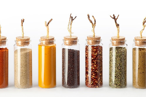 Gold Leaf Spice Jars