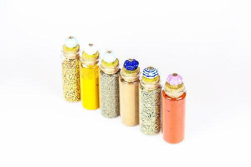 Rustic Spice Jars
