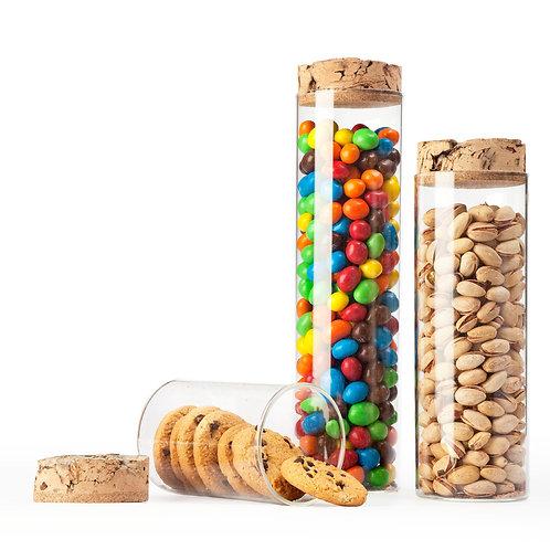 Cork Top Storage Jars