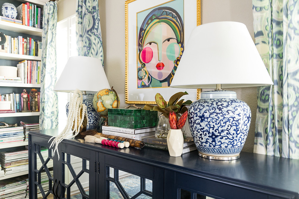 Blue+Sideboard+With+Geometric+Detail