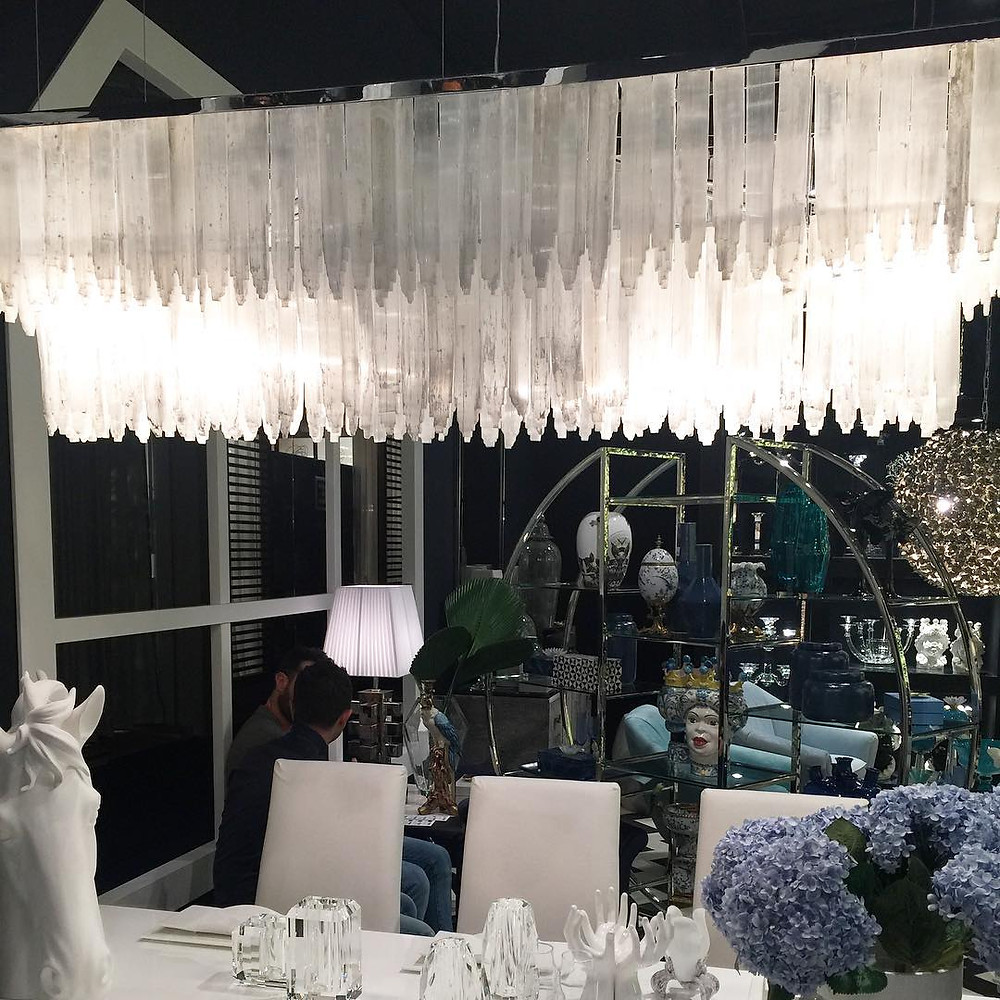 Maison and Objet, January 2019. Selenite chandelier