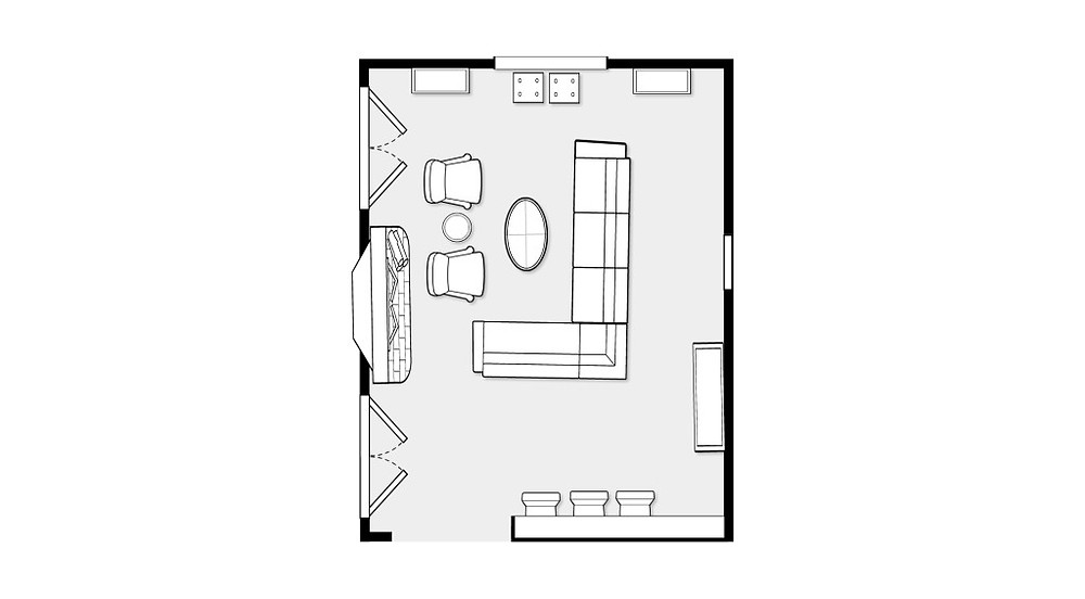 Floorplan Casa Vilora Interiors