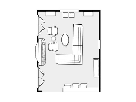 Arranging Furniture In A Room With Multiple Focal Points