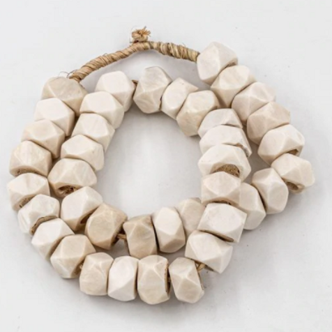 White Kenya Bone Beads