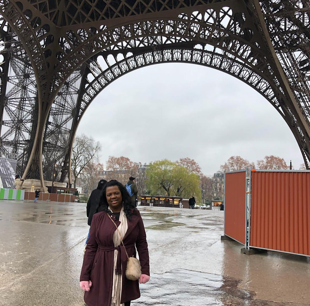 Veronica Solomon at The Eiffel Tower, Paris