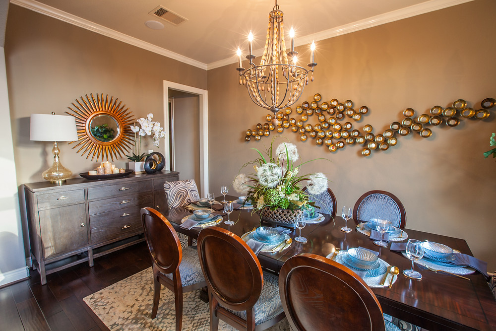 Former formal dining room converted to a homeschool room