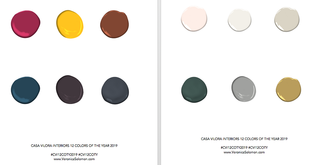 Color Trends, Colors of the year