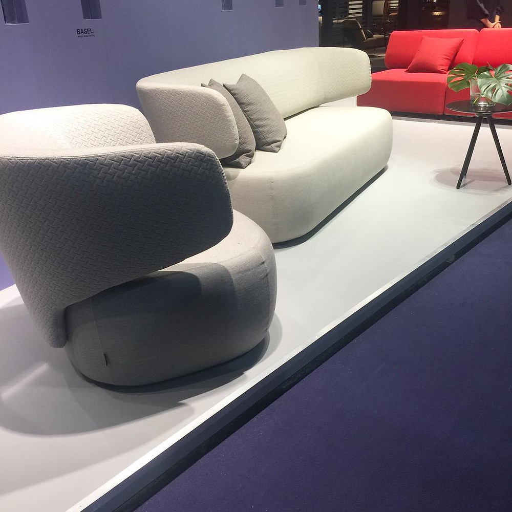 Maison and Objet, January 2019. Upholstery with soft silhouette