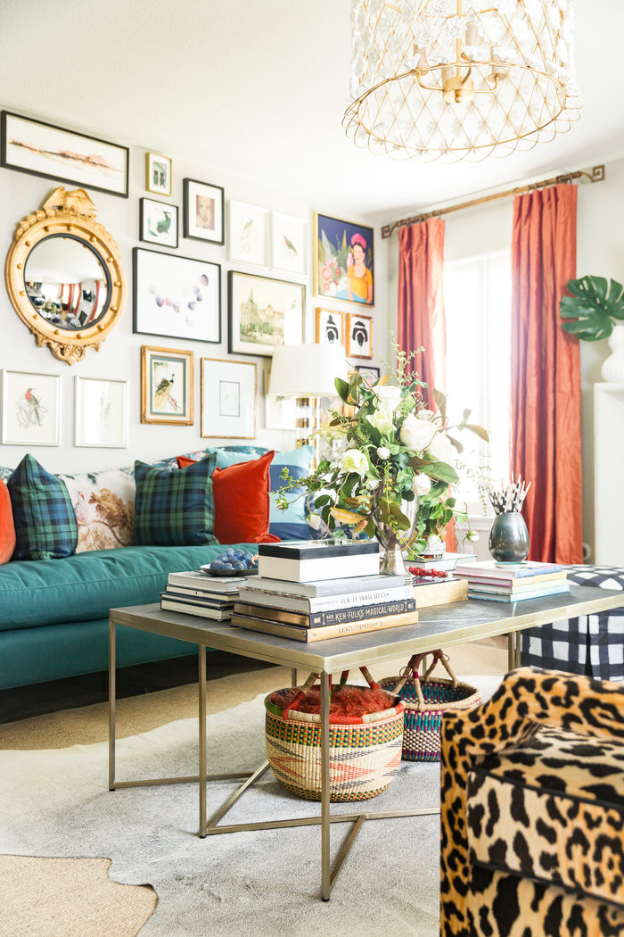 Maximalist Living Room with eclectic, bold touches