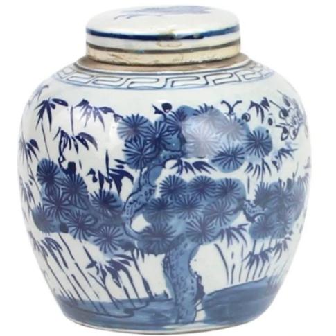 Blue And White Mini Jar
