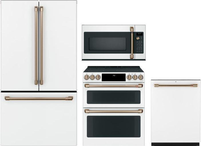 GE Cafe Matte White Appliances