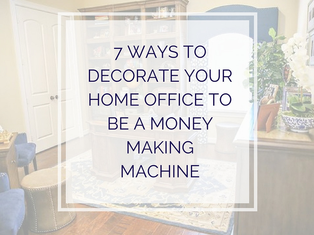 Money Space, Home office Decor, Organize home office