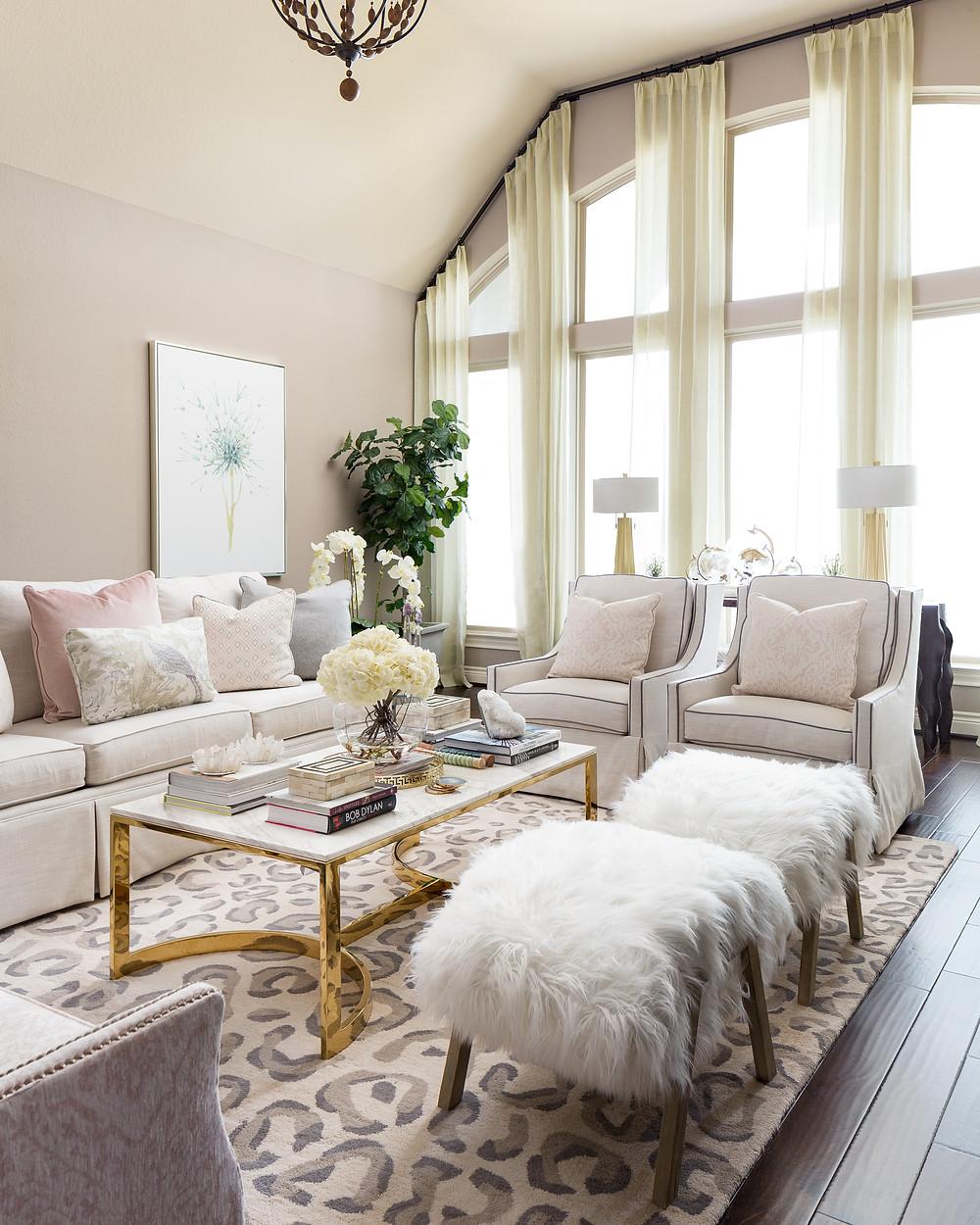 Living Room with performance fabrics