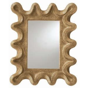 A contemporary spin on a baroque mirror