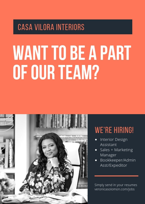 We Are Hiring Design Assistant
