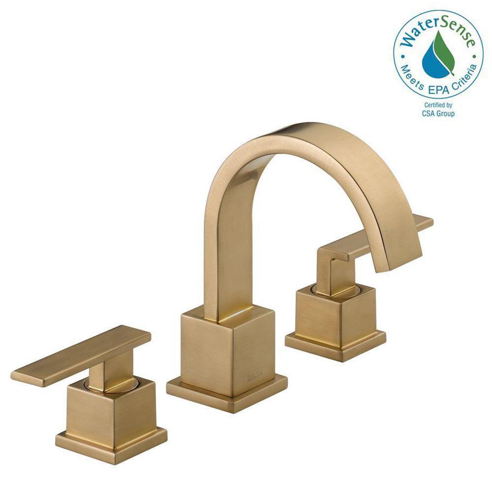 Delta Vero vanity faucet in champagne bronze