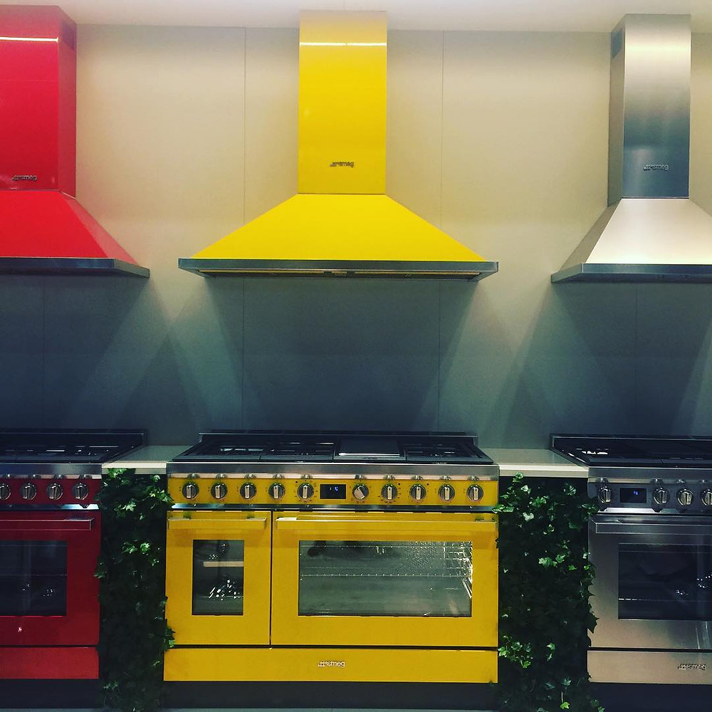 Yellow appliances by Smegg