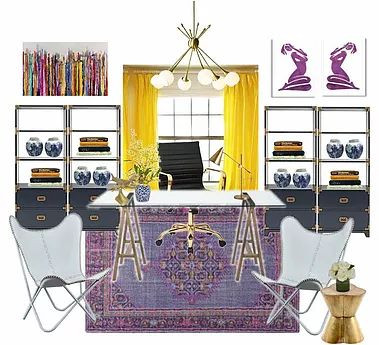 Katy Interior Designer   Home Office   Lady Boss Office Space