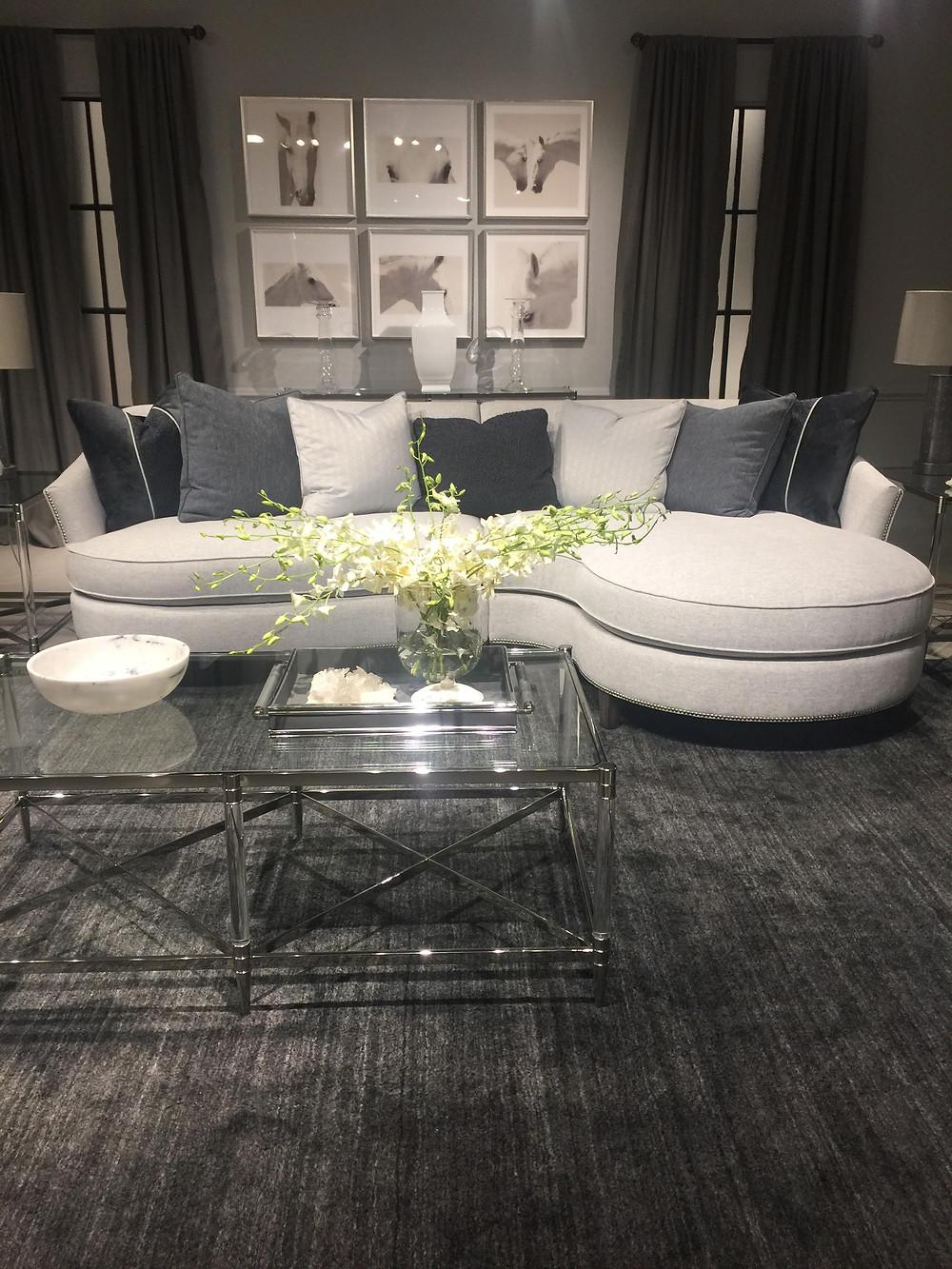 Curved Bernhardt Sofa