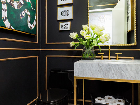 How To Use Black In A Small Powder Room