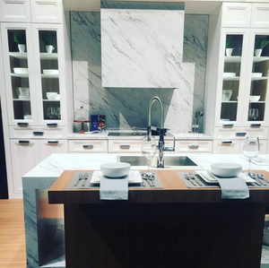 white kitchen vignette at KBIS in Orlando