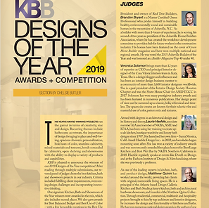 Judge - KBB Designs Of The Year 2019
