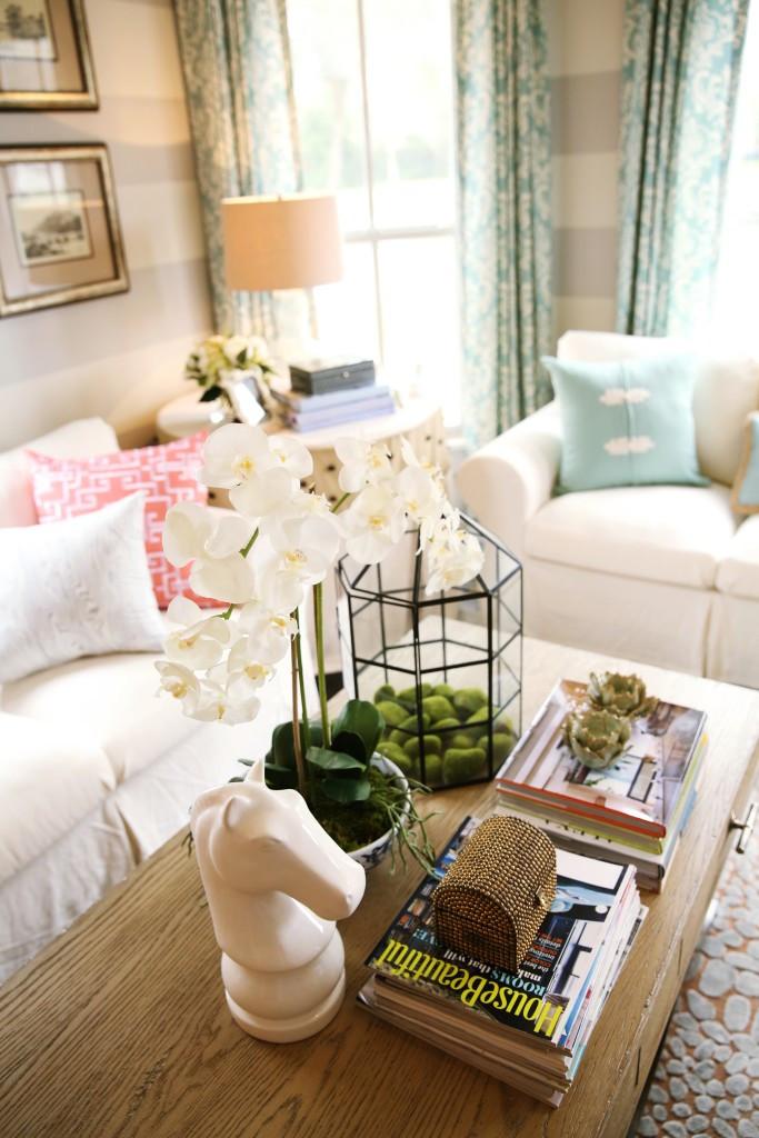 Coffee Table Vignette In Design Studio Living Room