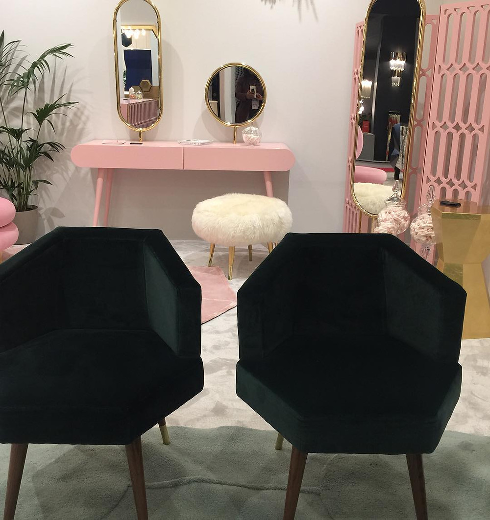 Maison and Objet, January 2019. Hexagon shaped chairs