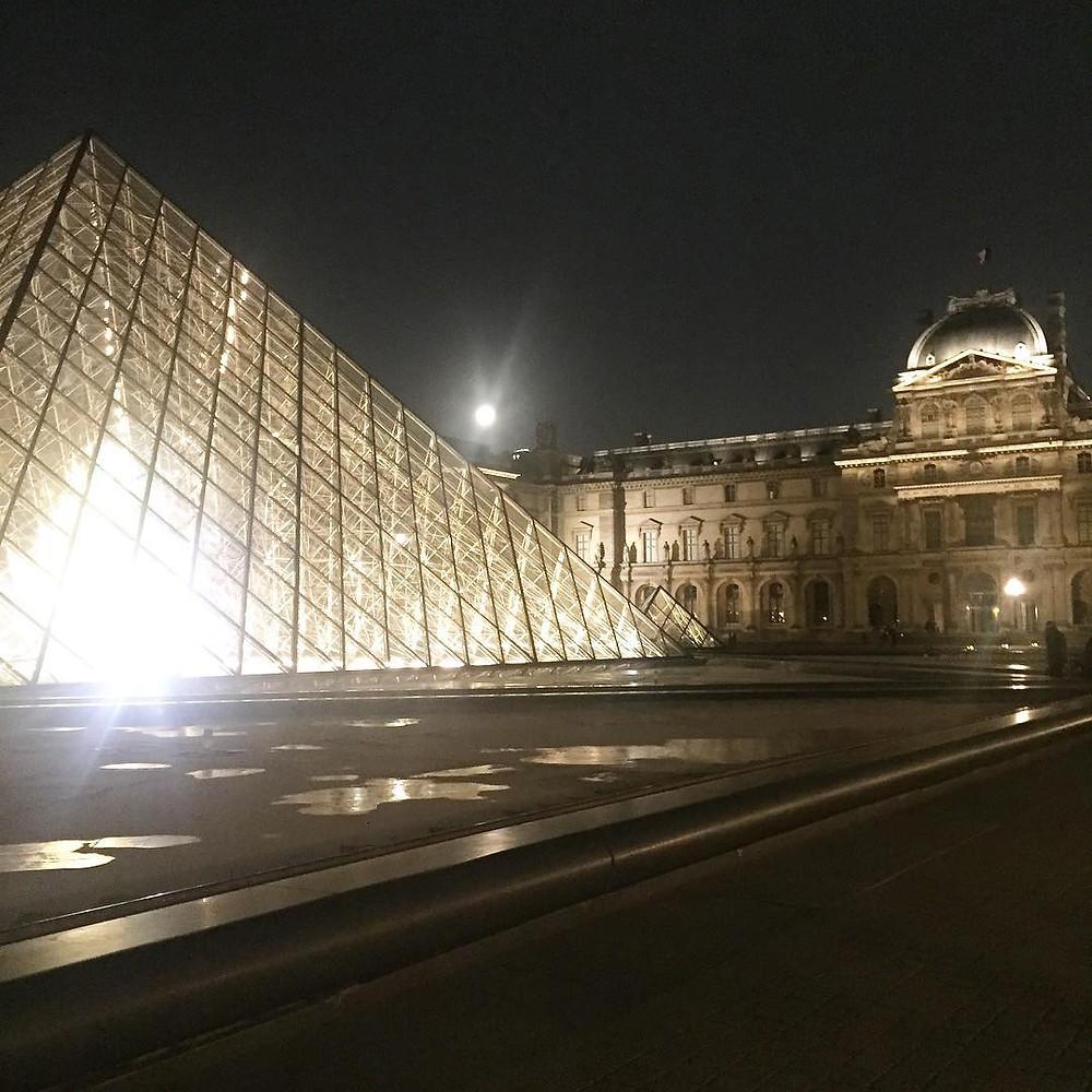 The Louvre At Night. Paris