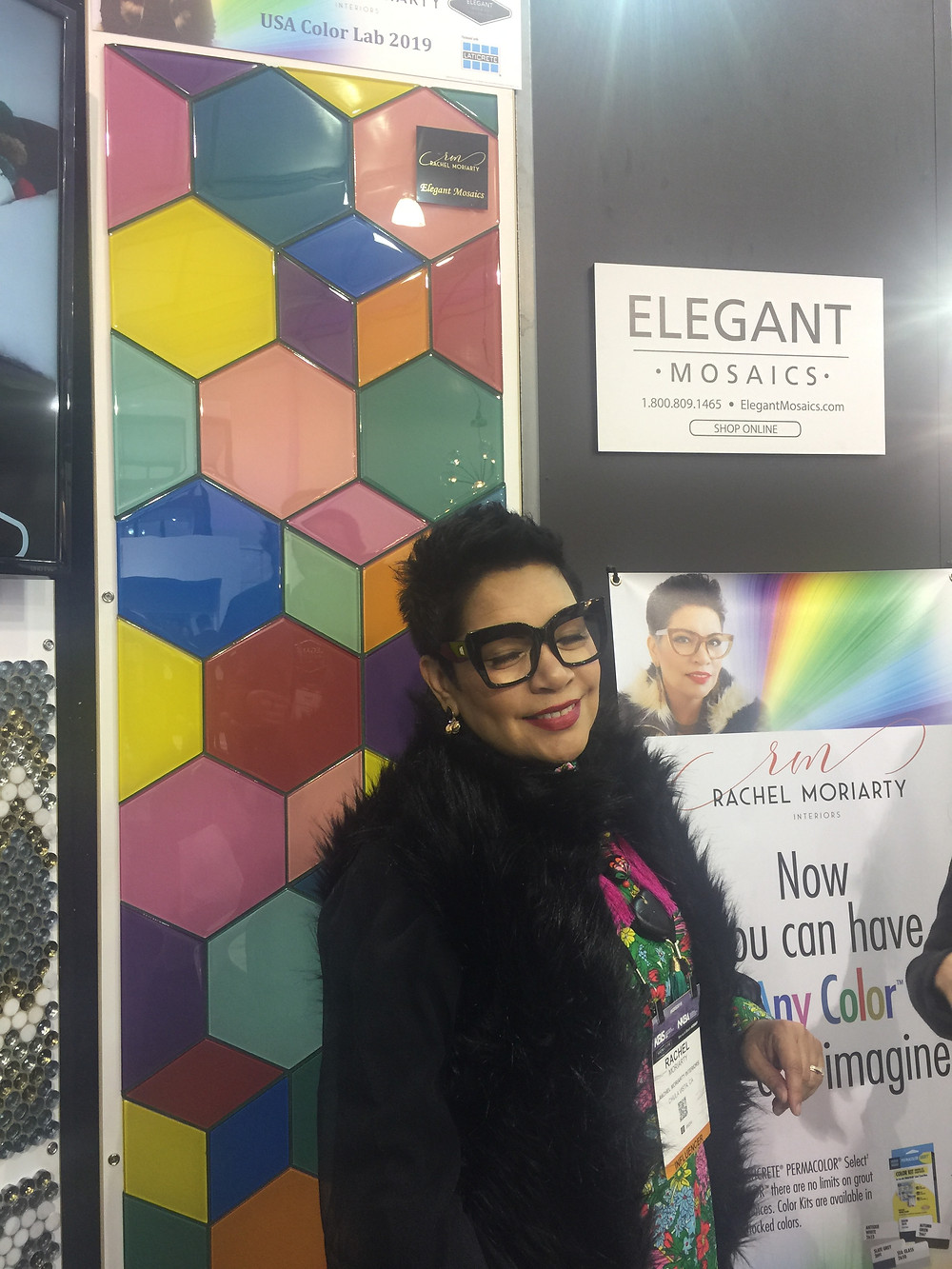Rachel Moriarty #ColorLab Tile Launch With Elegant Mosaics