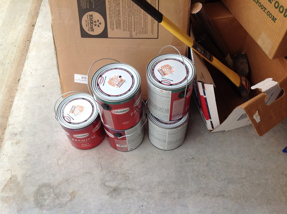 Cans of Paint for Josh's Teen Bedroom