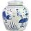 Thumbnail: Blue And White Ming Jar Fish Motif