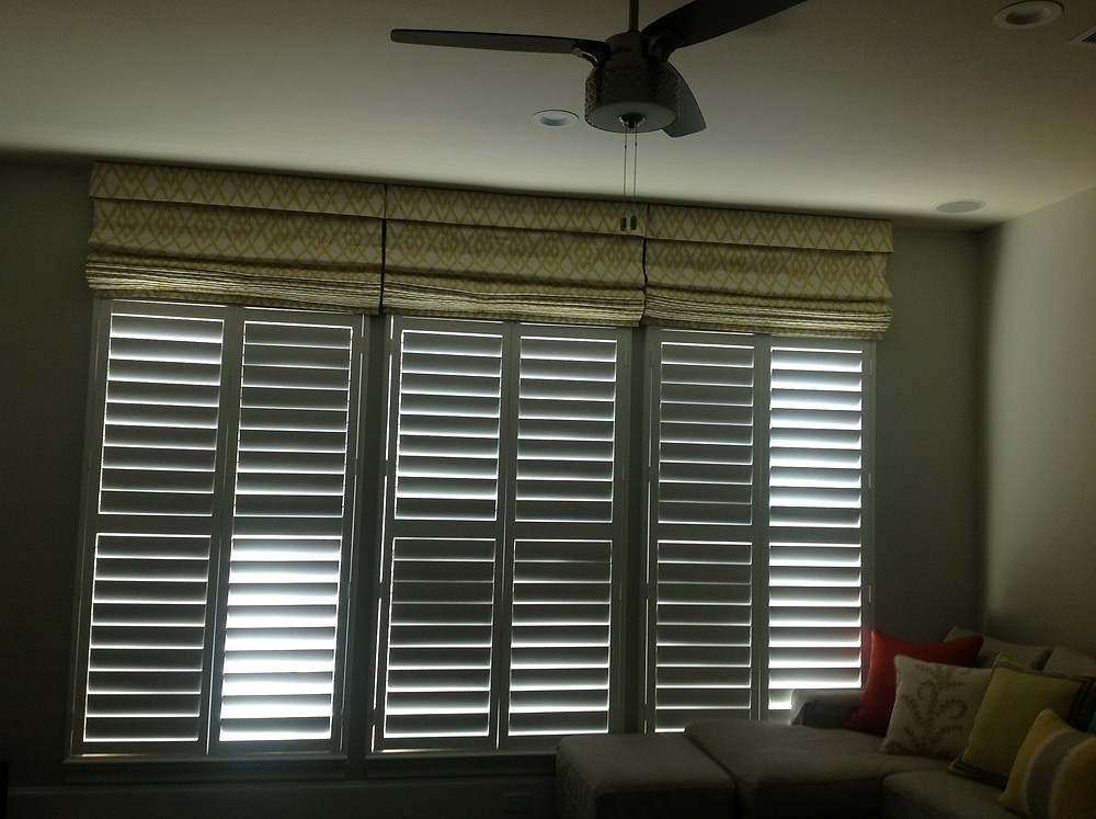 After Installing Roman Shades