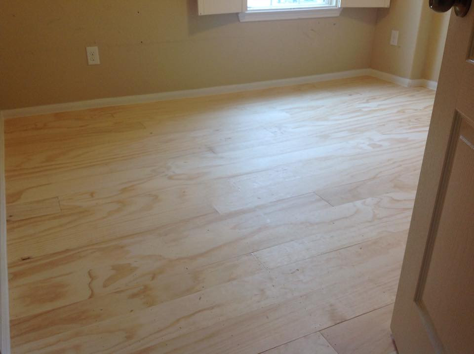 The Finished Plywood Floor (Pre-Stain)