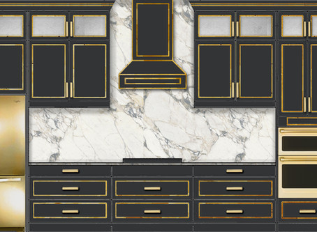 Trendy Or Timeless? Black And Gold Kitchens