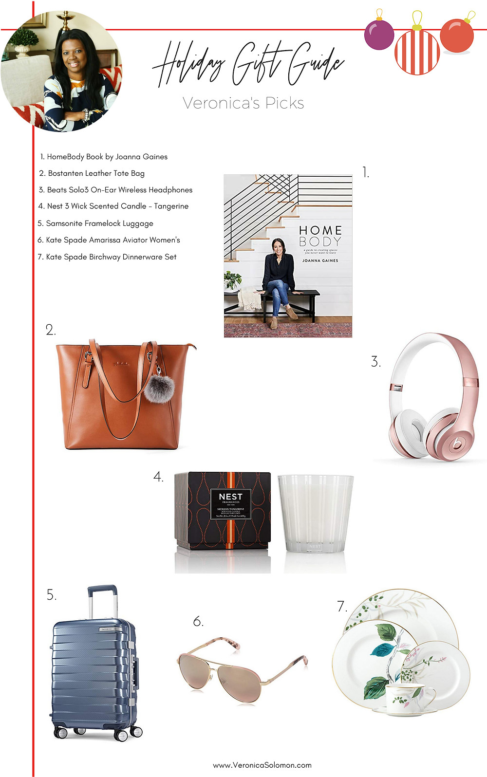 Veronica Solomon Holiday Gift Guide