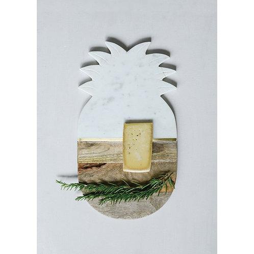 Marble & Mango Wood Pineapple Board