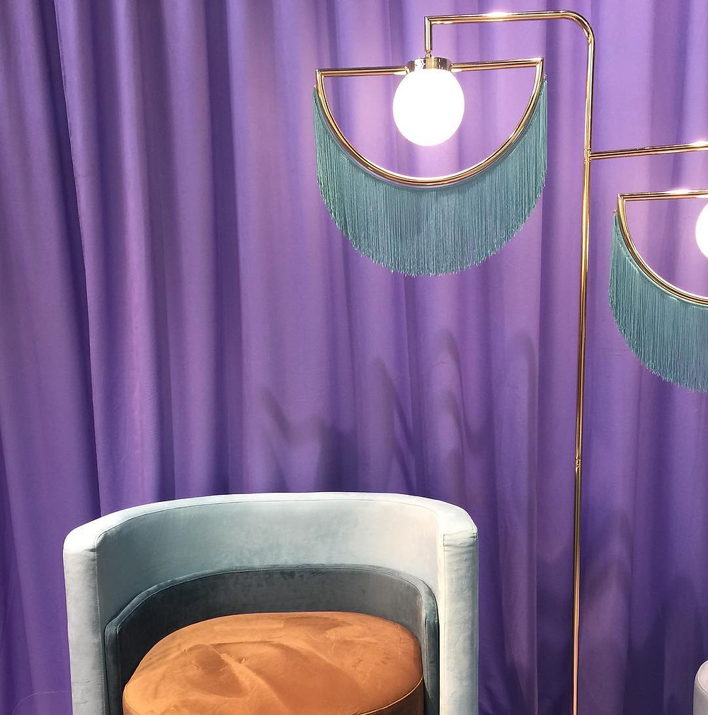 Maison and Objet, January 2019. Fringe floor lamps. Very boudoir