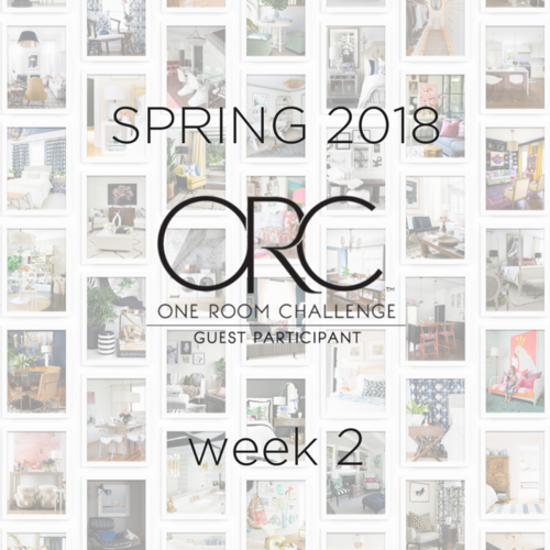 SPRING 2018 ONE ROOM CHALLENGE™ GUEST PARTICIPANTS, Week 2