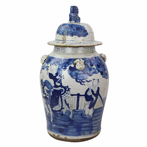 Blue And White Temple Jars