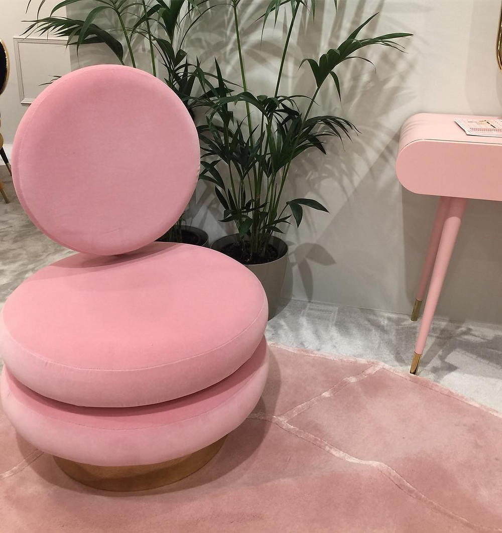 Maison and Objet, January 2019. Pink chair with art deco influence