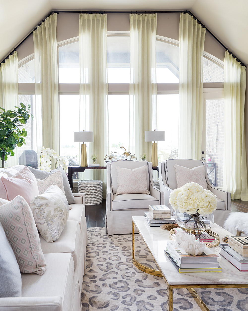 White furniture in a living room