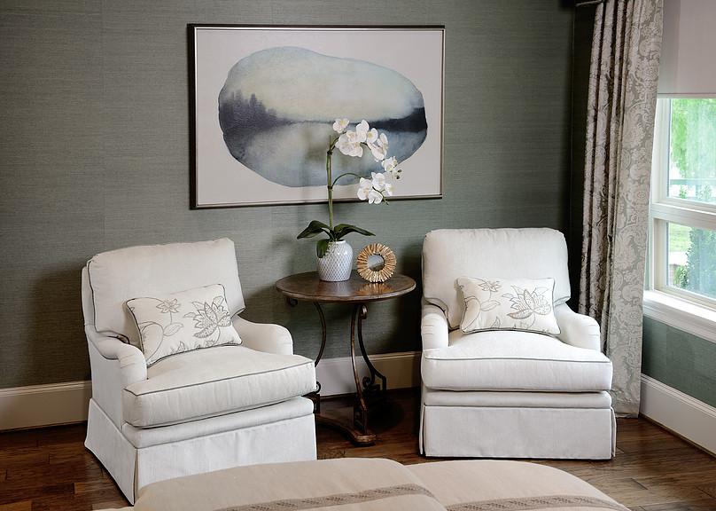 Grasscloth in master bedroom