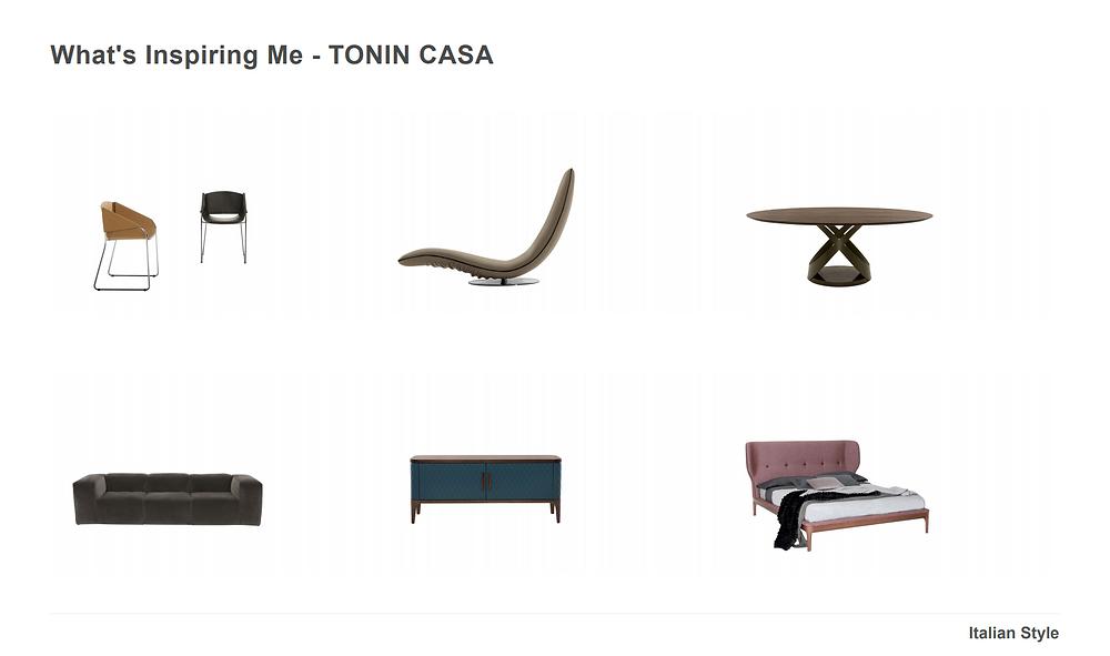 Italian furnishings from Tonin Casa