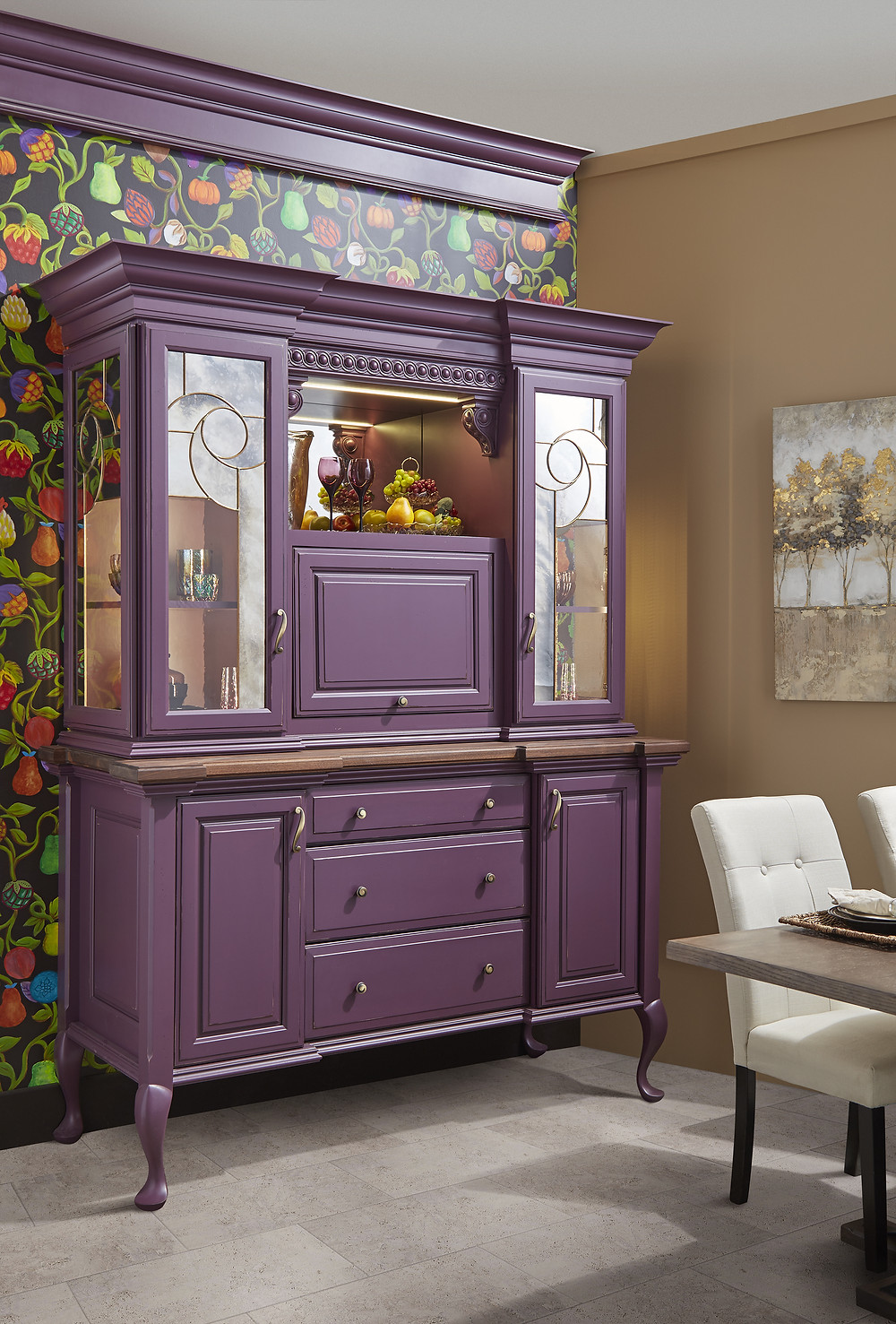 Purple Entertainment Cabinet By Wellborn Cabinetry