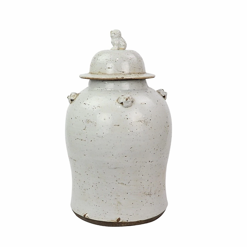 Vintage White Temple Jar - 2 Sizes