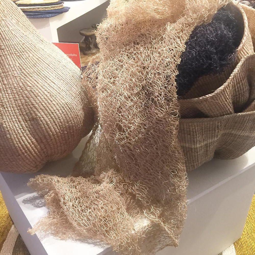 Maison and Objet, January 2019. Natural fibers used for basket making