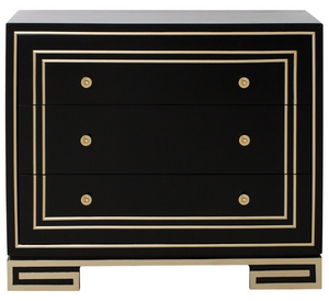 Home Fare Modern style black chest with champagne gold