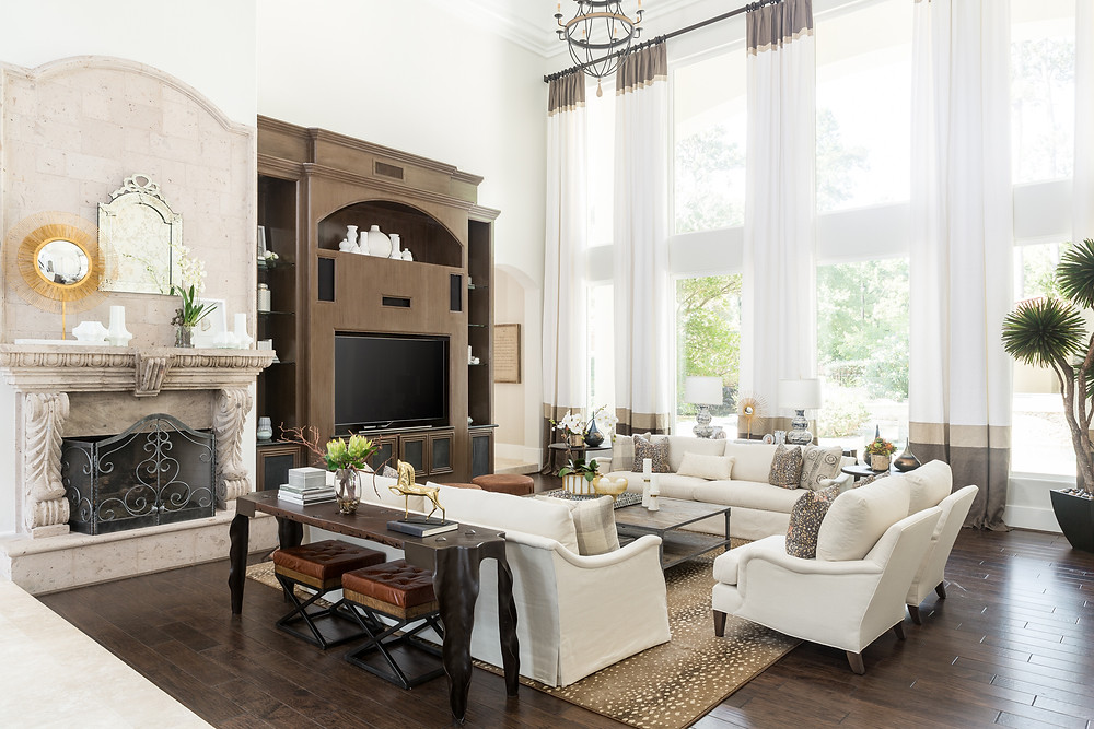 Neutral living room in Magnolia, TX