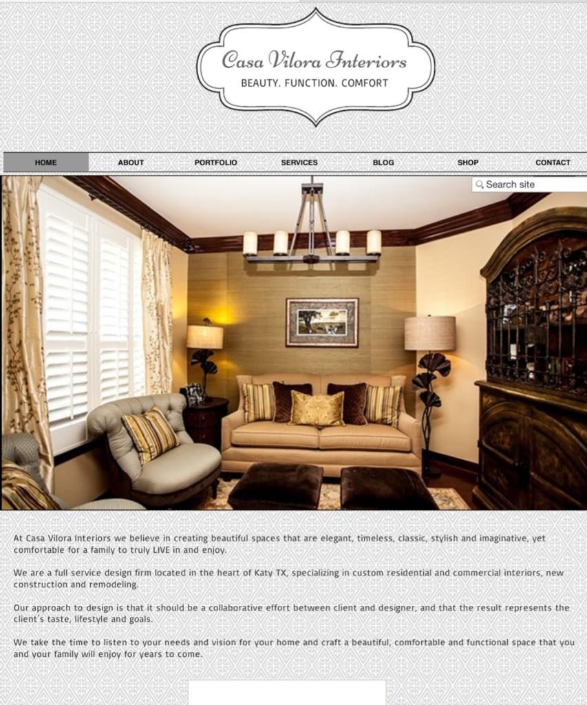 Screen Shot www.casavilorainteriors.com